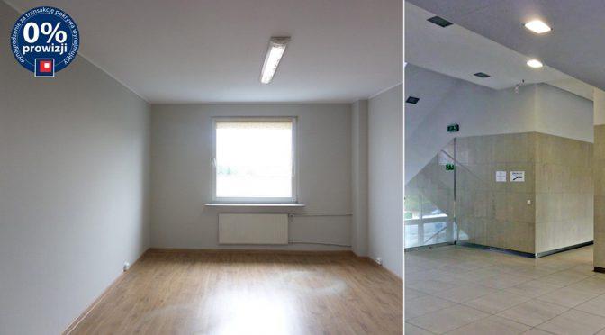 po lewej przestronne wnętrze nowoczesnego lokalu biurowego do wynajmu we Wrocławiu