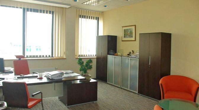 gwarantującego komfortową pracę wnętrze lokalu biurowego do wynajmu Wrocław Siechnice